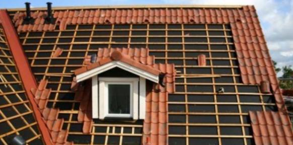Een normaal dak wat aangelegd word