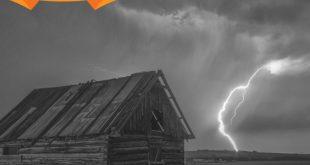 Storm bij een huis